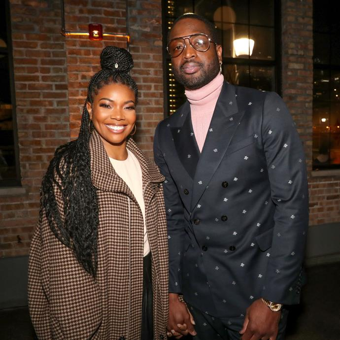 """**Gabrielle Union and Dwyane Wade**<br><br>   **Age difference:** Nine years<br><br>  The *Being Mary Jane* actress and NBA star first met in 2007, but didn't start dating until 2009. Union opened up about their nine-year age gap in a 2012 interview with [*Essence*](https://www.essence.com/love/relationships/black-love-gabrielle-union-and-dwyane-wade/