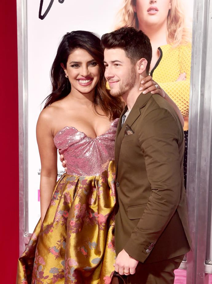 """**Priyanka Chopra and Nick Jonas**<br><br>  **Age difference:** 10 years<br><br>  Arguably one of the most famous older-woman-younger-man relationships in Hollywood in recent years, Priyanka Chopra and Nick Jonas caused a stir when they stepped out together at the 2017 Met Gala, although their relationship wasn't made official until mid 2018.<br><br>  Since news of their coupledom broke in 2018, the pair have dealt with strong (and often unjust) [online reactions to their 10-year age difference](https://www.elle.com.au/celebrity/nick-jonas-priyanka-chopra-age-gap-18136