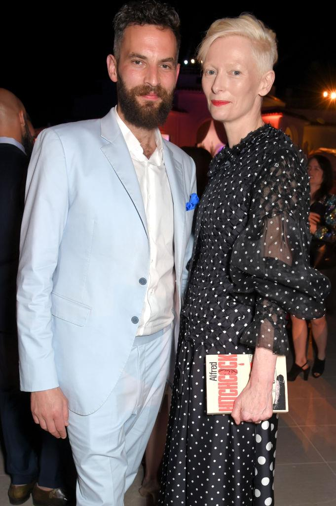**Tilda Swinton and Sandro Kopp**<br><br>  **Age difference:** 18 years<br><br>  Tilda Swinton, 59, and Sandro Kopp , 42, met on the set of *The Chronicles of Narnia* in 2004, when she played the White Witch, and he was a centaur.<br><br>  The notoriously private couple are rarely seen in public, and neither of them have spoken publicly about their age difference.