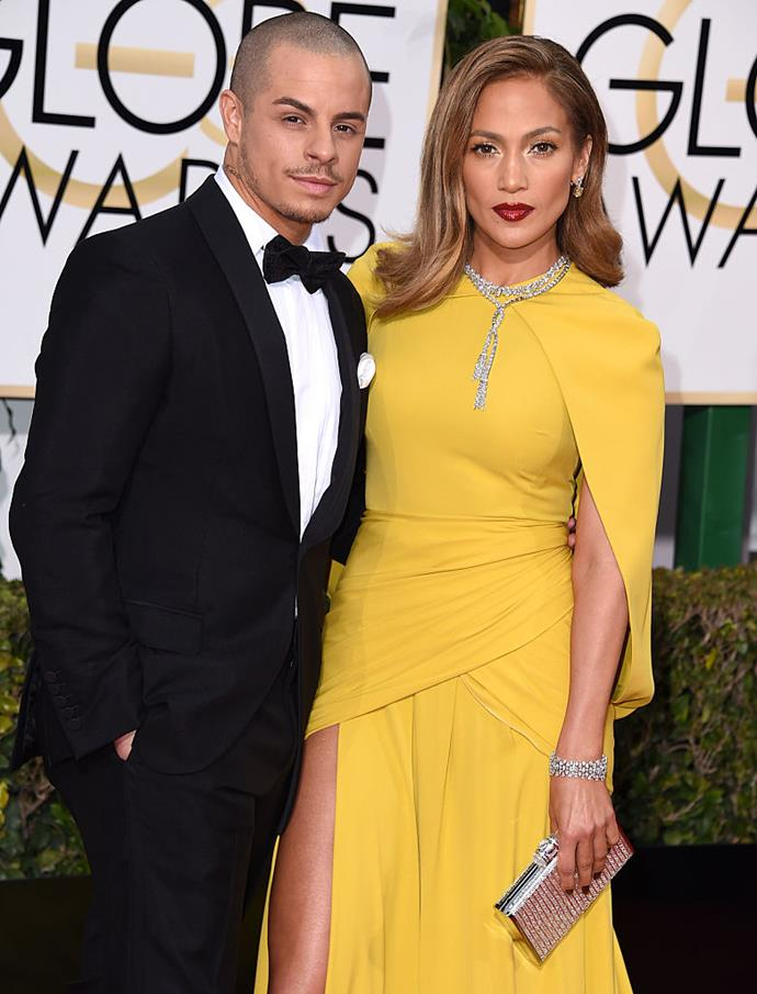 """**Jennifer Lopez and Casper Smart**<br><br>  **Age difference:** 18 years<br><br>  Lopez famously began dating her back-up dancer Casper Smart in 2011, when she was 42 and he was 24. The pair were together intermittently for five years, briefly separating in 2014 before calling it quits in 2016.<br><br>  The following year, Lopez, who also began fielding rumours about dating Drake, opened up about dating """"younger men"""" on *The Ellen Show*. When DeGeneres mentioned that """"people make a big deal"""" about how the singer dates younger men, Lopez interjected.<br><br>  """"Okay, first of all, stop,"""" she said (quote via [*Vanity Fair*](https://www.vanityfair.com/style/2017/02/jennifer-lopez-dating-younger-men