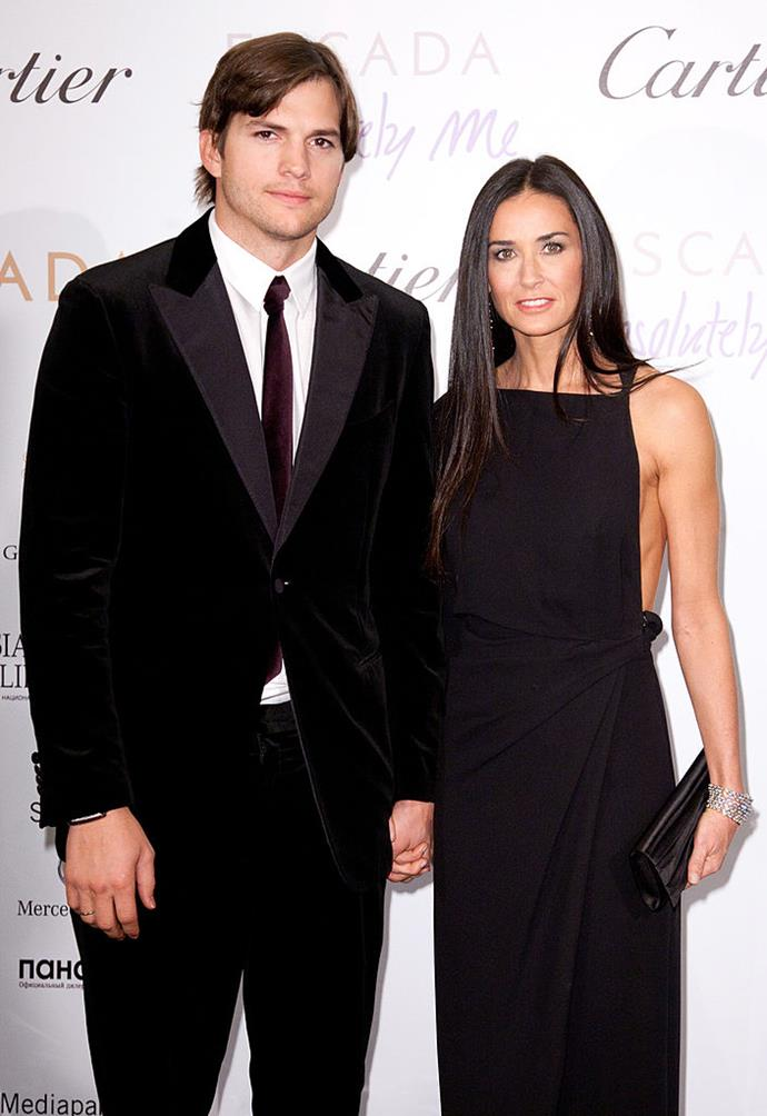 "**Demi Moore and Ashton Kutcher**<br><br>  **Age gap:** 16 years<br><br>  Potentially the most renowned older-woman-younger-man couple of the '00s, Demi Moore and Ashton Kutcher met in 2003 and publicly debuted their relationship at the premiere of Moore's *Charlie's Angels: Full Throttle*.<br><br>  Marrying in 2005, their 16-year age difference became the source of many tabloid headlines at the time. Moore, who was even [rumoured to have dated Nick Jonas](https://www.nowtolove.com.au/celebrity/celeb-news/is-demi-moore-dating-nick-jonas-44009|target=""_blank"") at a later time, was one of the first women to be branded with the [now-problematic](https://www.elle.com.au/culture/problematic-things-22390