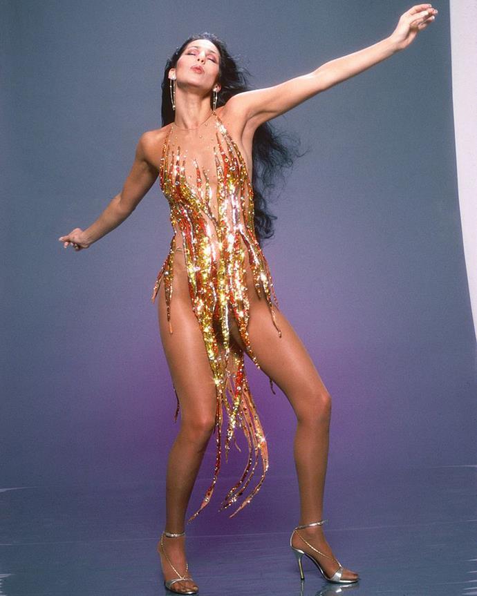 Cher wearing Bob Mackie in 1978.