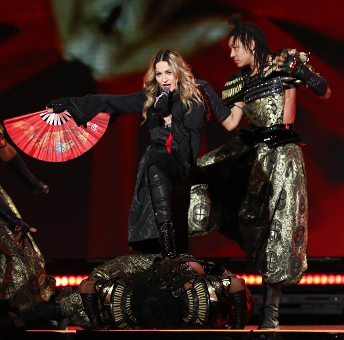 """**Madonna and (almost) all of her relationships**<br><br>  The iconic Madonna has dated almost exclusively younger men in her time. While the superstar, 61, is currently dating her back-up dancer Ahlamalik Williams (pictured here)—who at 25, is 36 years her junior and two years younger than her daughter Lourdes—she also had significant age gaps with her last few partners.<br><br>  Per [*The Daily Mail*](https://www.dailymail.co.uk/tvshowbiz/article-7796905/Madonnas-dancer-beau-follows-long-line-toyboy-lovers.html