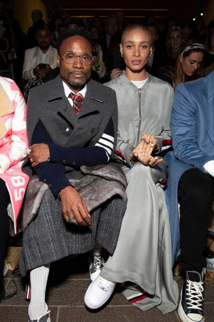 Billy Porter and Adwoa Aboah at the Central St. Martins graduate show.