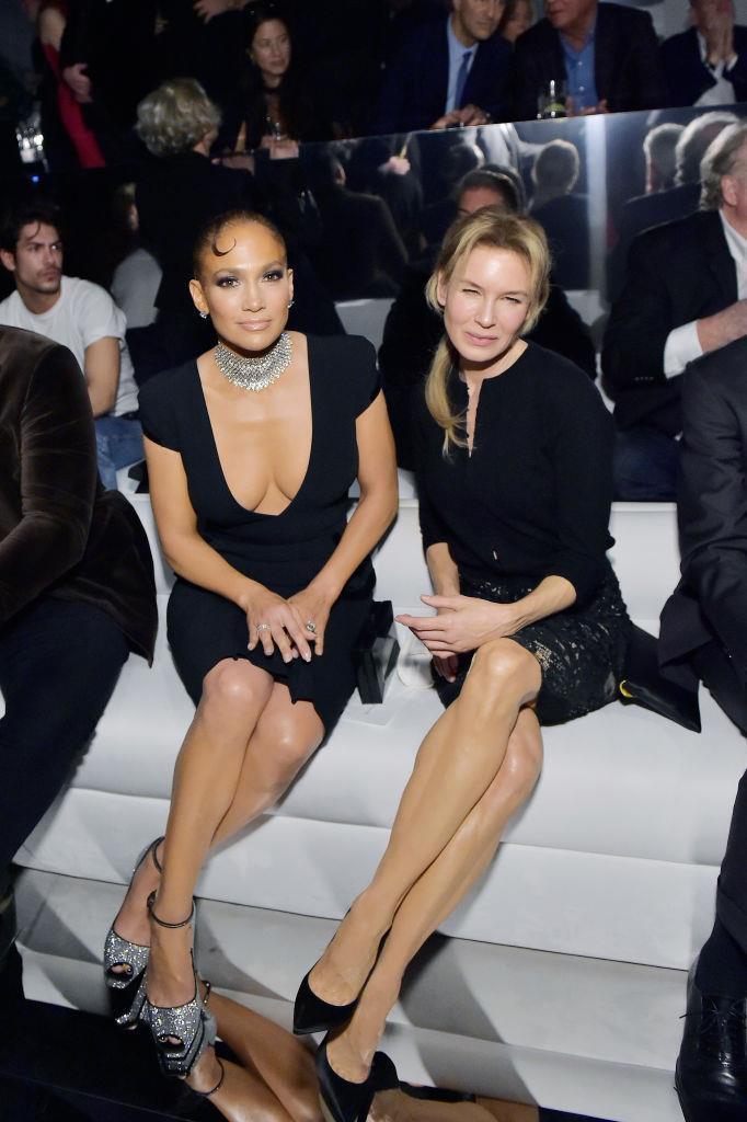 Jennifer Lopez and Renée Zellweger at Tom Ford.