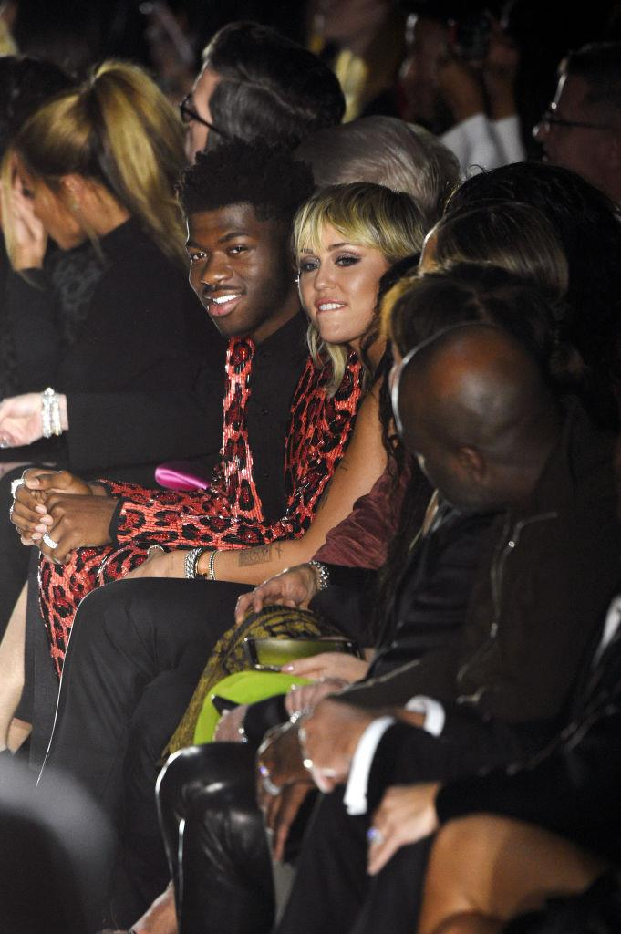 Lil Nas X and Miley Cyrus at Tom Ford.