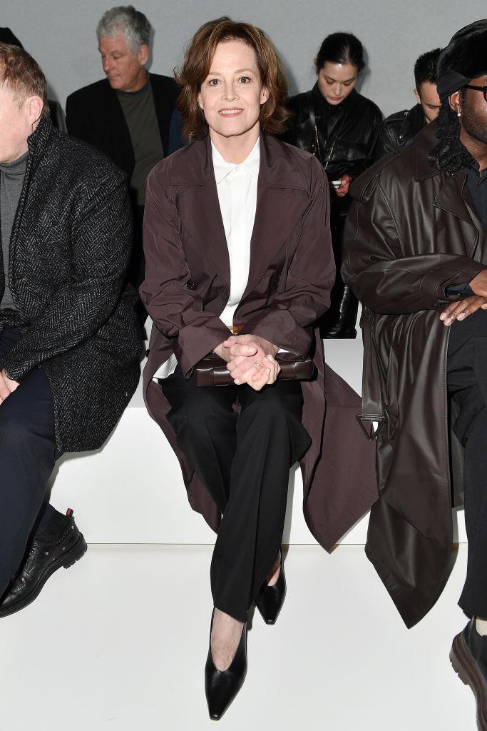 Sigourney Weaver at Bottega Veneta.