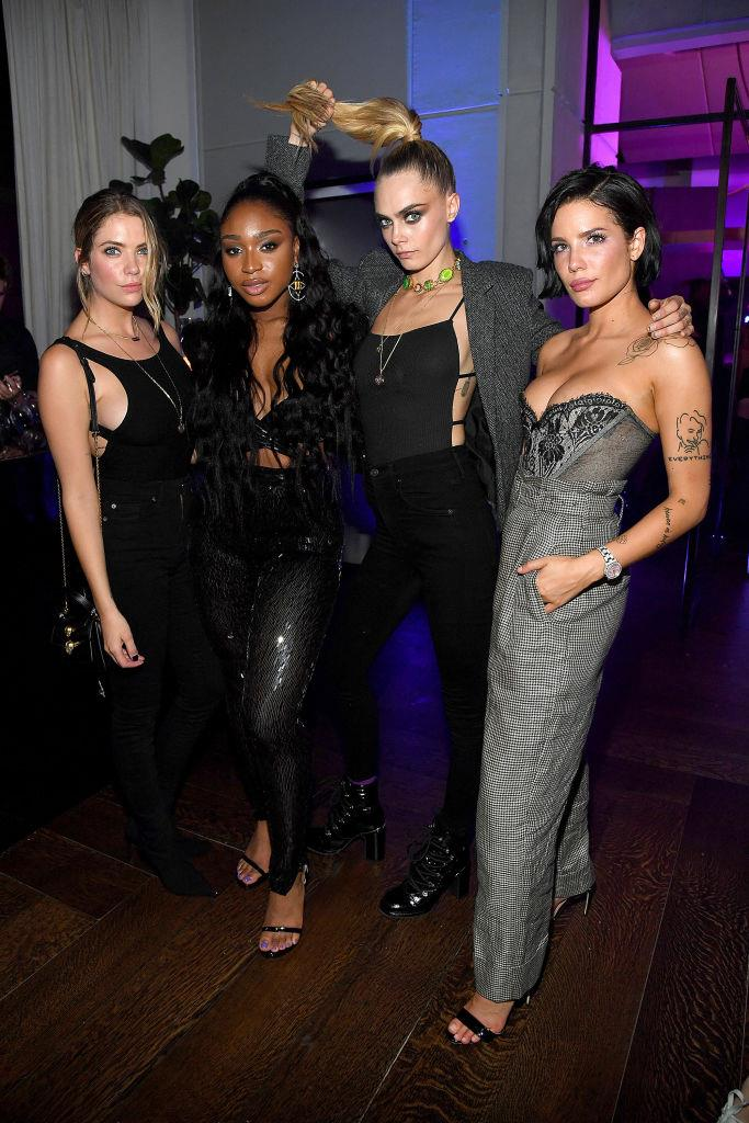 Pictured with Normani and Halsey at the Savage x Fenty show in September 2019.