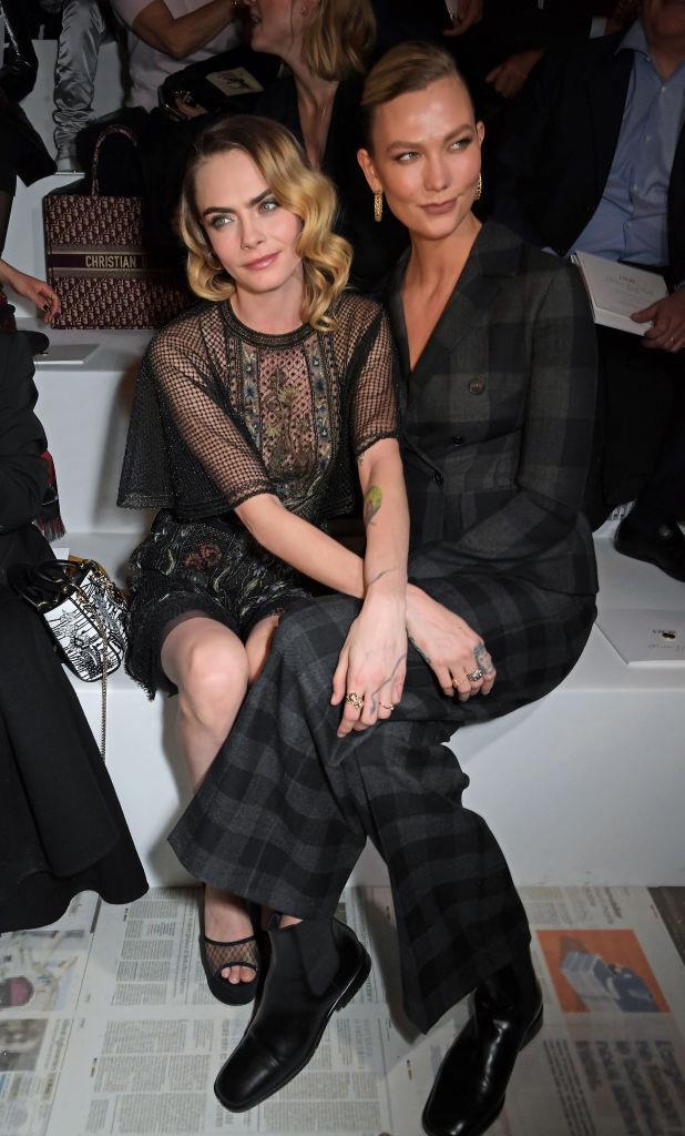 Cara Delevingne and Karlie Kloss at Dior.