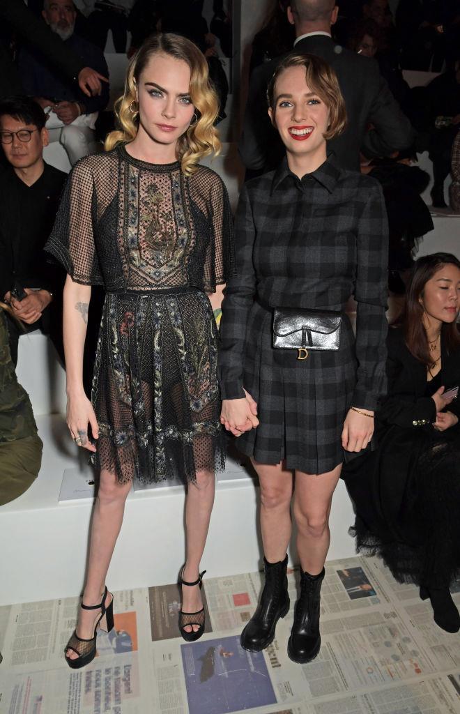 Cara Delevingne and Maya Hawke at Dior.