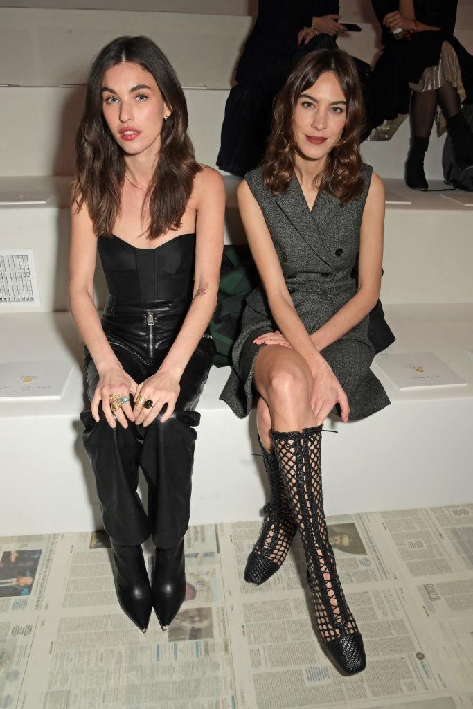 Rainey Qualley and Alexa Chung at Dior.
