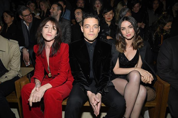 Charlotte Gainsbourg, Rami Malek and Ana de Armas at Saint Laurent.