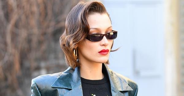 Bella Hadid's Latest Outfit Brought A '90s Girl Group Vibe To Paris Fashion Week