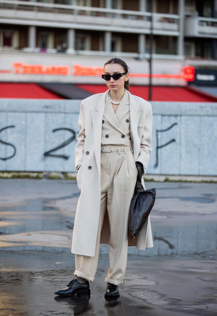**Neutral uniforms** <br><br> After Max Mara's militant-chic collection at spring/summer '20, the It-set appear to have placed a new value on sartorial simplicity—proving it can still be striking, especially when paired with the minimal accessories of the moment (often by way of Bottega Veneta).