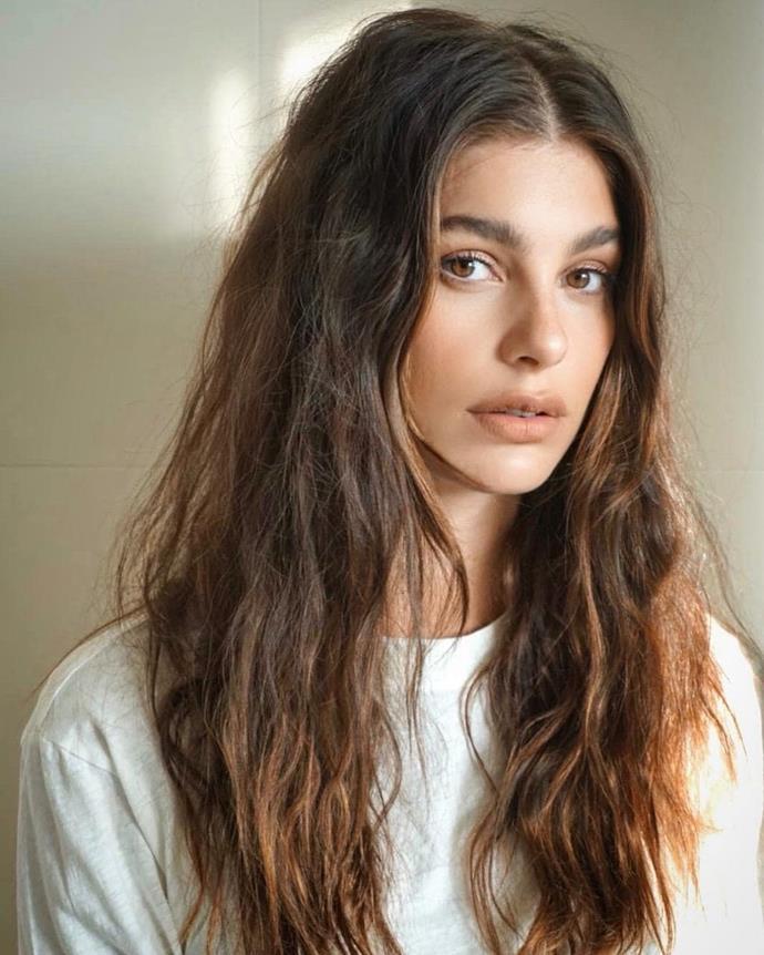 "Camila Morrone<br><br>  *Image via [@patidubroff](https://www.instagram.com/p/B5AwOC0ptt7/ target=""_blank"" rel=""nofollow"")*"