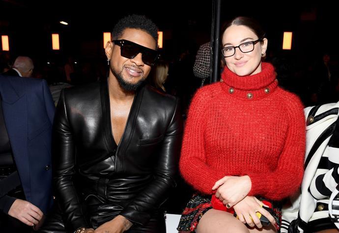Usher and Shailene Woodley at Balmain.