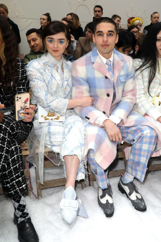 Maisie Williams and Reuben Selby at Thom Browne.