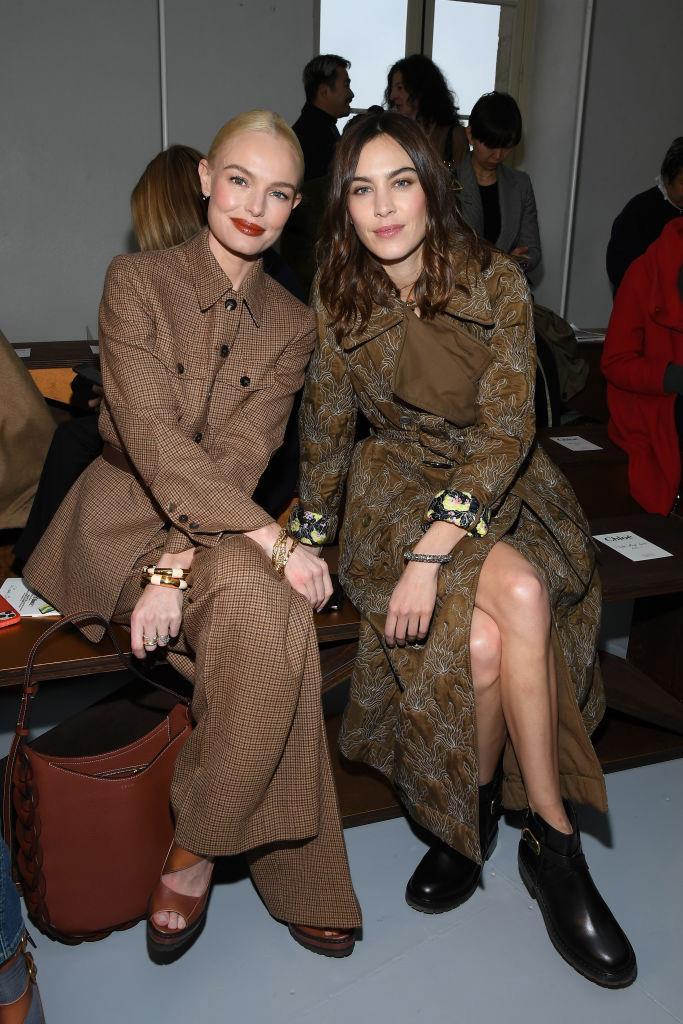 Kate Bosworth and Alexa Chung at Chloé.