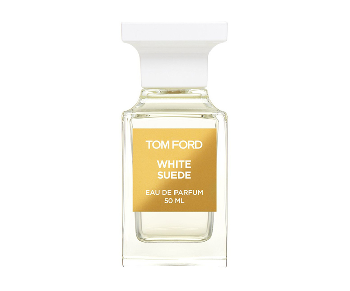 "**White Suede EDP by Tom Ford, $340 at [Myer](https://www.myer.com.au/p/tom-ford-limited-edition-white-suede|target=""_blank"")**<br> Unequivocally feminine but not overly sweet, Tom Ford's take on suede mixes its namesake note with hints of tea, thyme and saffron."
