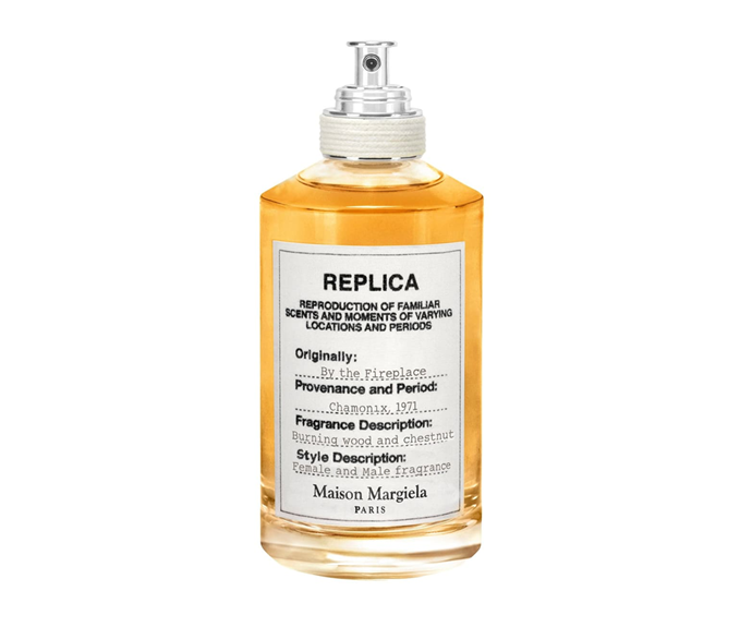 "**By The Fireplace EDT by Maison Margiela Replica, $180 at [MECCA](https://www.mecca.com.au/maison-margiela/by-the-fireplace-edt/V-031310.html?cgpath=fragrance|target=""_blank"")**<br> If 'cosy' were a fragrance family, this would fit to a tee—the chestnut, vanilla and juniper blend is as comfortingly warm as the name suggests."