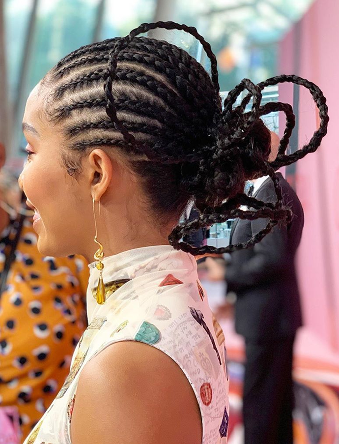 "Architectural hair art worthy of a spot in the Guggenheim. <br></br> *Via: Instagram/[@nikkinelms](https://www.instagram.com/nikkinelms/|target=""_blank""