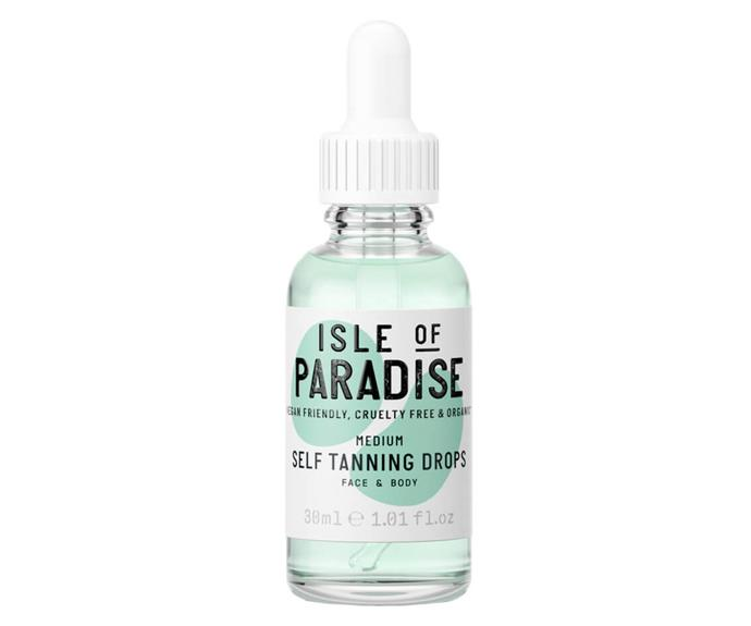 """**Isle Of Paradise Self-Tanning Drops, $42, [MECCA](https://www.mecca.com.au/isle-of-paradise/self-tanning-drops/V-035820.html