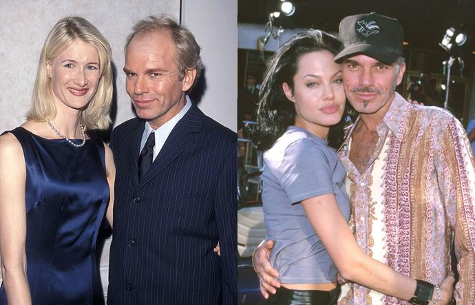 """**Laura Dern, Billy Bob Thornton and Angelina Jolie**<br><br>  File this one under ['vintage celebrity couples](https://www.harpersbazaar.com.au/celebrity/celebrity-couples-90s-2000s-20223