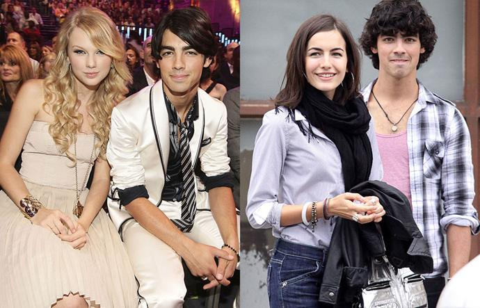 """**Taylor Swift, Joe Jonas and Camilla Belle**<br><br>  Although they only dated from July to October 2008, Taylor Swift and Joe Jonas' brief period of dating remains one of the singer's most talked-about past relationships.<br><br>  This is perhaps in part to Swift appearing on *The Ellen Show* following their split, where she revealed that Jonas broke up with her in a 25-second phone call.<br><br>  She later told [*Us Weekly*](https://www.usmagazine.com/celebrity-news/news/taylor-swift-admits-joe-jonas-left-her-for-lovebug-actress-20081311/