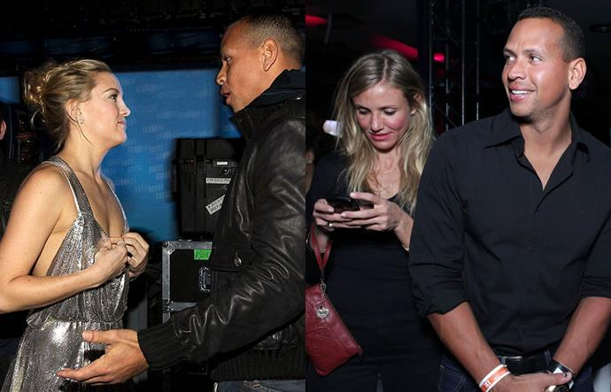 """**Kate Hudson, Alex Rodriguez and Cameron Diaz**<br><br>  Given that Kate Hudson and Alex Rodriguez only dated from May to December 2009, you'd be forgiven for having forgotten about this [throwback celebrity couple](https://www.harpersbazaar.com.au/celebrity/celebrity-couples-90s-2000s-20223