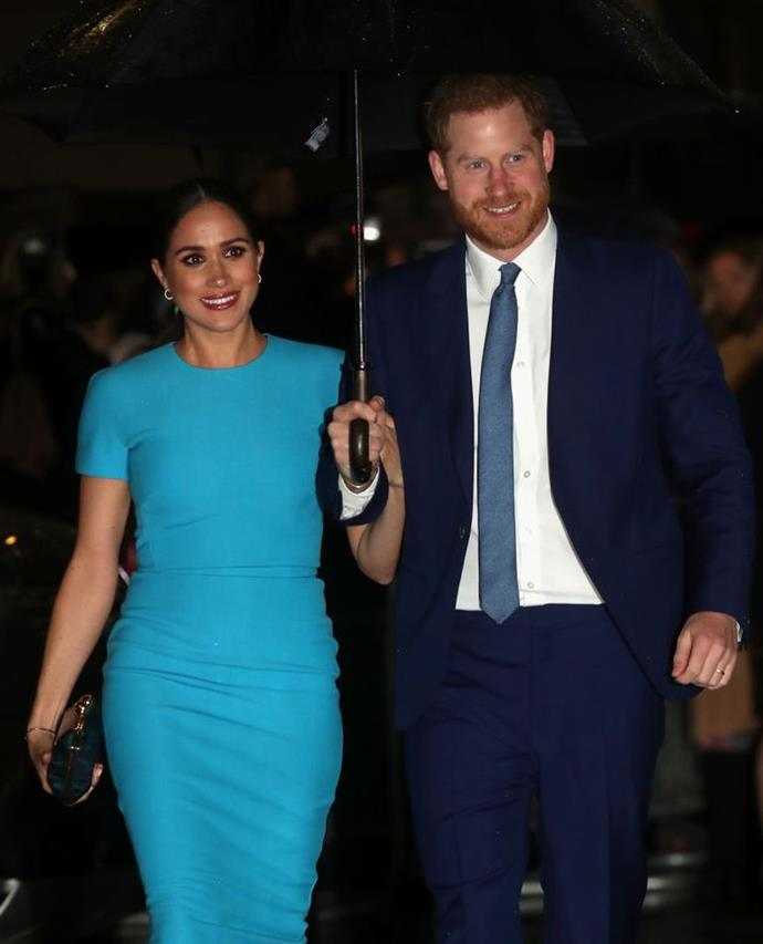 Meghan and Harry on March 5, 2020.