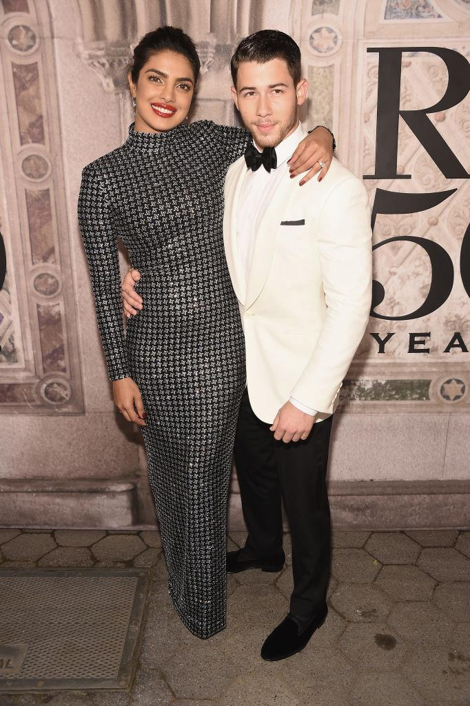 "**Priyanka Chopra and Nick Jonas** <br><br> Though it feels like they've been together forever, Chopra met Nick Jonas at the 2017 *Vanity Fair* Oscar Party. Apparently, meeting Chopra elicited a truly awestruck response from the Jonas Brothers singer, who told her: ""You're real. Where have you been all my life?"" A year and a half later, and they were walking down the aisle together in India."