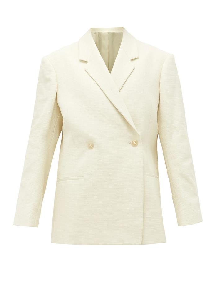 "**The ivory blazer** <br><br> While the temptation to opt for a black, grey or navy blazer is ever-present (wearability, remember?), the white blazer is one of fashion's most enduring trends. Cult Swedish brand Totême's ethereal cream number is inspiration for all of us, and while it might be slightly more prone to spills and stains, that's never stopped any of us. <br><br> *Off-white Loreo blazer by Totême, $795 at [SSENSE](https://www.ssense.com/en-au/women/product/totme/off-white-loreo-blazer/5031951|target=""_blank""