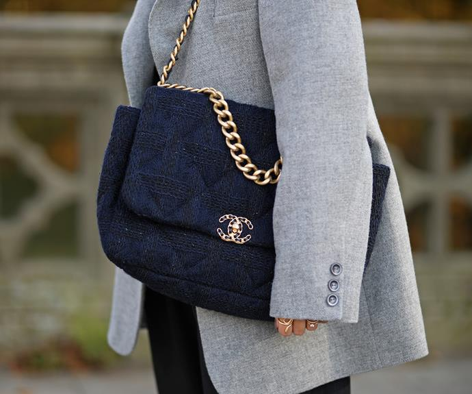 **The quirky classic:** The Chanel '19' bag <br><br> The Chanel '19' is the newest It-bag offered by Chanel, but like the 'Gabrielle' and iconic 'Classic Flap' pieces, we're picking it'll be an eternal favourite. It's also the first handbag launched by Chanel since the passing of Karl Lagerfeld, and ushers in a new era—not least for the fashion house, but for your wardrobe, too.
