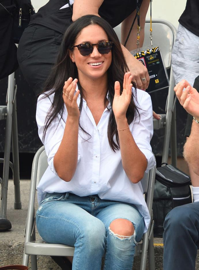 ***Wearing 'respectable' items of clothing*** <br><br> During her 2017 appearance at the Toronto Invictus Games, Meghan was spotted wearing a pair of ripped denim jeans. While it was a few months before she and Prince Harry became engaged, her choice in attire would be considered far too casual by the royal family, especially when attending important events.