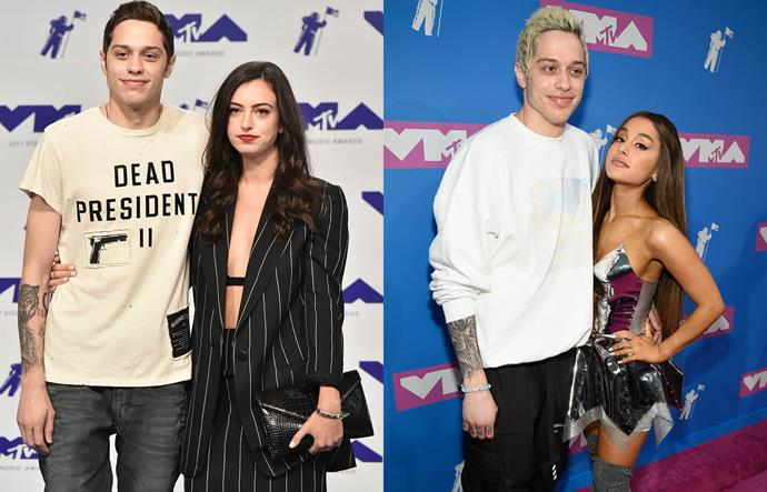 """**Pete Davidson, Ariana Grande and Cazzie David**<br><br>  *Saturday Night Live* comedian Pete Davidson and actress Cazzie David's two-year relationship came to an end in May 2018, which incidentally was also the month in which Ariana Grande called things off with Mac Miller. Davidson and Grande's relationship became public not long afterwards, with subsequent [reports](https://www.girlfriend.com.au/pete-davidson-cheated-on-cazzie-david