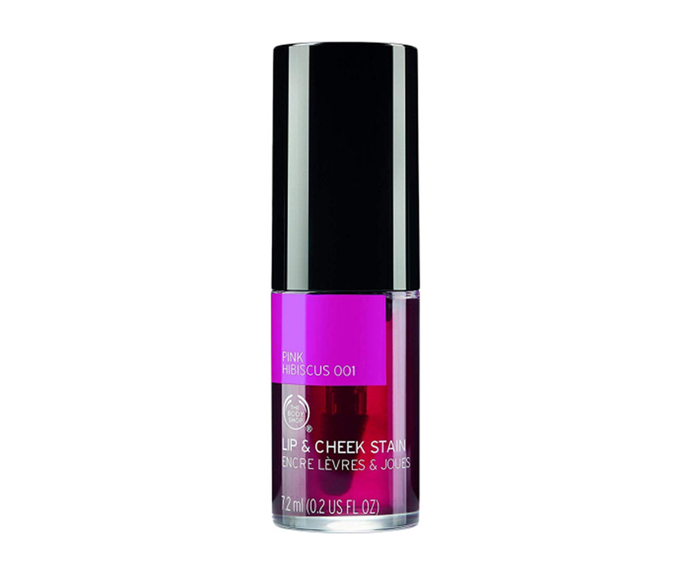 """**Lip and Cheek Stain in Pink Hibiscus, $25 by [The Body Shop](https://www.thebodyshop.com/en-au/make-up/view-all-face-make-up/lip-and-cheek-stain/p/p000657