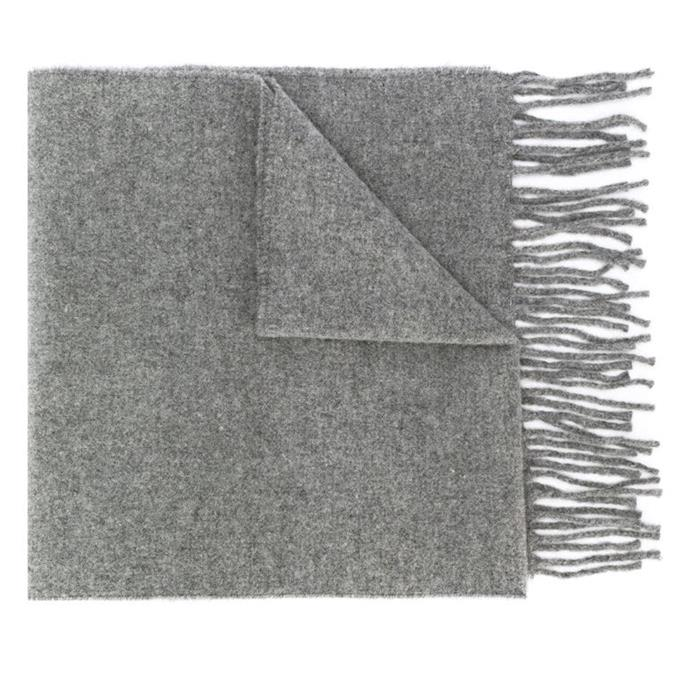 "**Fringe scarf by Vivienne Westwood, $142 at [Farfetch](https://fave.co/2Q7hZp8|target=""_blank""