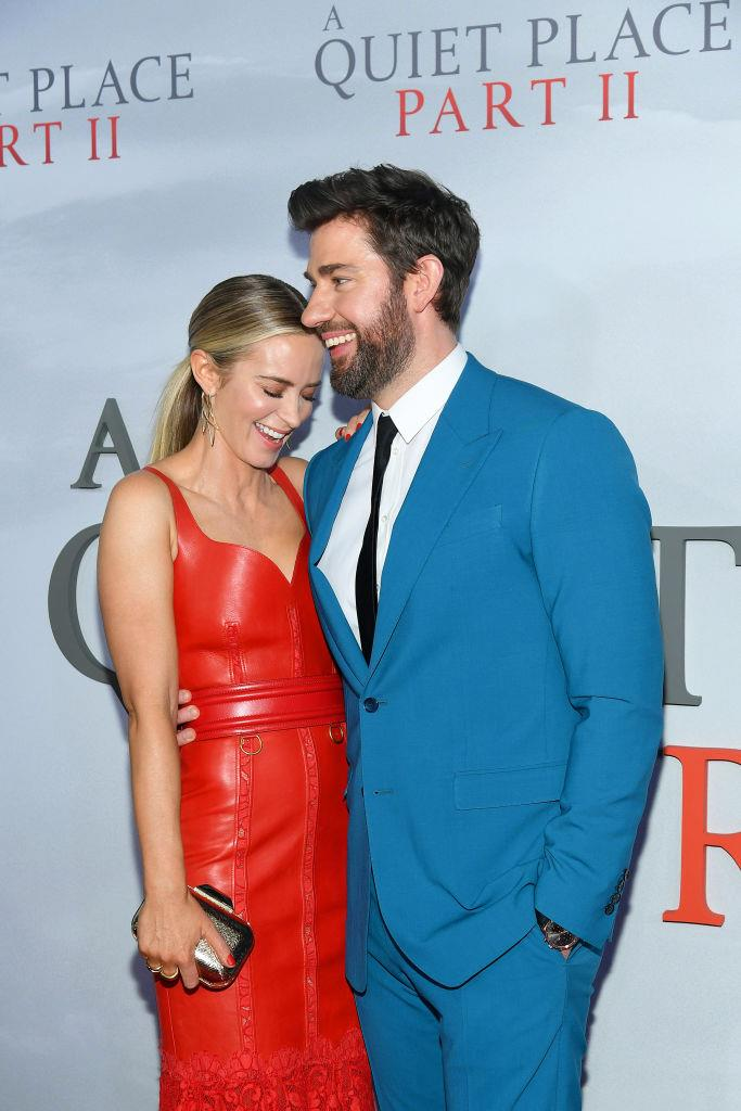 Blunt and Krasinski at the premiere for *A Quiet Place Part II* in March 2020.