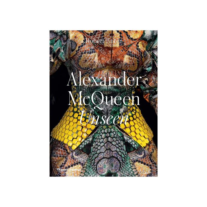 """***Alexander McQueen: Unseen* by Robert Fairer, $68.90 at [Booktopia](https://fave.co/2U9zXsf