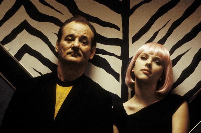 ***Lost in Translation* (2003)** <br><br> The second film made by Sofia Coppola, *Lost in Translation* is eternally stylish in its simplicity, and uses Tokyo's monochromatic Park Hyatt Hotel as its backdrop. Aside from the enchanting plot, we'll always remember this film for its fashion.