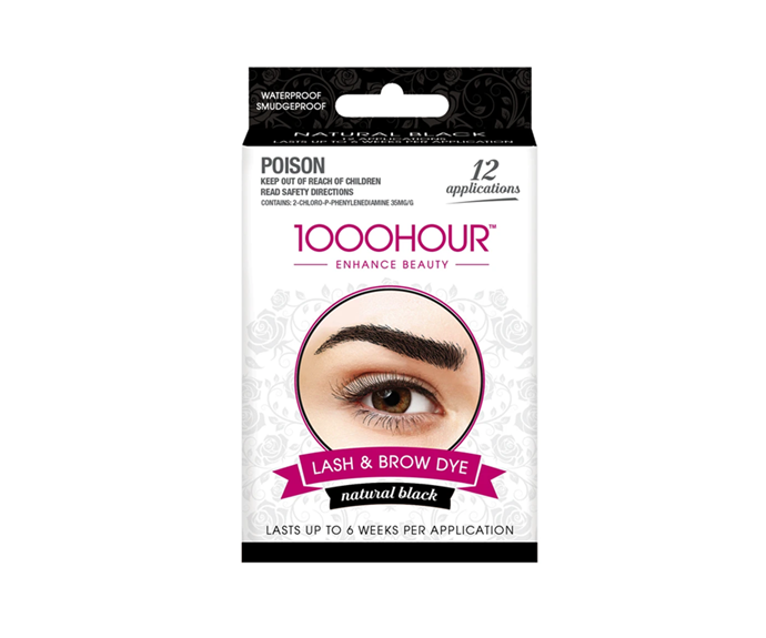 "**Lash & Brow Dye Kit in Natural Black, $19.99 by [1000Hour](https://1000hour.com.au/products/eyelash-brow-dye-kit-black|target=""_blank"")**"