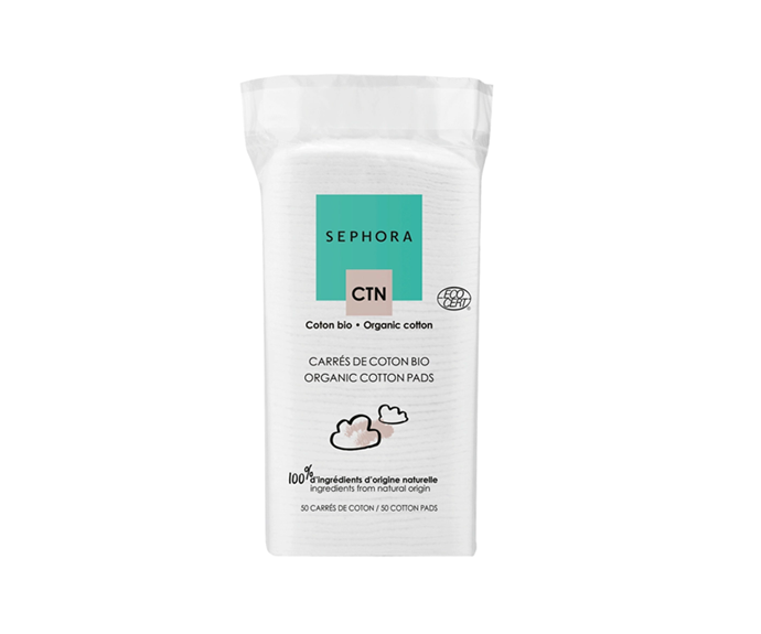 "**Organic Cotton Pads by Sephora Collection, $4 at [Sephora](https://www.sephora.com.au/products/sephora-collection-organic-cotton-pads/v/default|target=""_blank"")**"