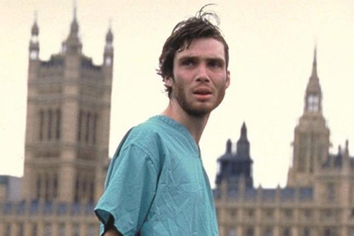 "**28 Days Later (2002)** <br><br> *Starring Cillian Murphy, Naomie Harris, Christopher Eccleston.* <br><br> A favourite amongst cinephiles, this popular pandemic film follows the story of a bike courier who wakes up one month after falling into a coma. When he wakes, he finds that London is desolated by a 'rage' virus that turns humans into incredibly violent versions of themselves. As he meets survivors along the way, they work together to try and seek refuge. <br><br> Available to watch on [Foxtel Now](https://www.foxtel.com.au/now/home.html|target=""_blank""