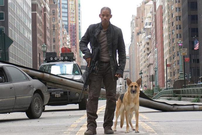 "**I Am Legend (2007)** <br><br> *Starring Will Smith, Willow Smith and Salli Richardson.* <br><br> In one of his most notable roles, Will Smith plays a U.S. Army virologist who has been outrunning a pathogen that was meant to cure cancer, but has actually turned humans into zombies. The story follows his journey through New York, to find a cure for the outbreak and any survivors that may be out there.  <br><br> Available to watch on *[Stan](https://www.stan.com.au/|target=""_blank""