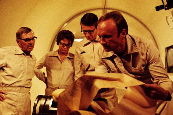 "**The Andromeda Strain (1971)** <br><br> *Starring Arthur Hill, James Olson, Kate Reid.* <br><br> If you're in the mood for a classic, this 1971 film is exactly that. The story follows the crashing of a satellite near a small town. After the citizens in the town die within days, a group of scientists are called upon to defeat the alien virus that arrived with the satellite. <br><br> Available for rent on *[Amazon Prime](https://www.amazon.com/gp/video/detail/B002DJPR5O/ref=msx_wn_av|target=""_blank""