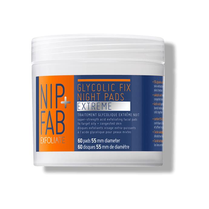 """***Nip + Fab Glycolic Fix Night Pads Extreme, $34.99 at [Priceline](https://www.priceline.com.au/nip-fab-glycolic-fix-night-pads-extreme-60-pack