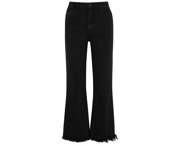 "**Undercover frayed high-rise kick-flare jeans by J Brand, $230 at [The Outnet](https://www.theoutnet.com/en-au/shop/product/j-brand/jeans/flared-jeans/undercover-frayed-high-rise-kick-flare-jeans/29012654081139265|target=""_blank""