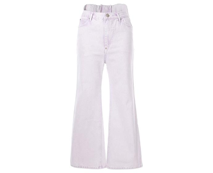 "**Cropped flare jeans by pushBUTTON, $318 at [Farfetch](https://www.farfetch.com/au/shopping/women/pushbutton-cropped-flared-jeans-item-13943544.aspx|target=""_blank""