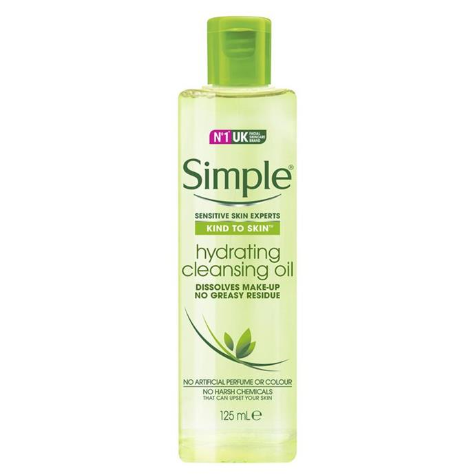 """***Simple Kind To Skin Hydrating Cleansing Oil, $9.99 at [Priceline](https://www.priceline.com.au/simple-kind-to-skin-cleansing-oil-hydrating-125-ml