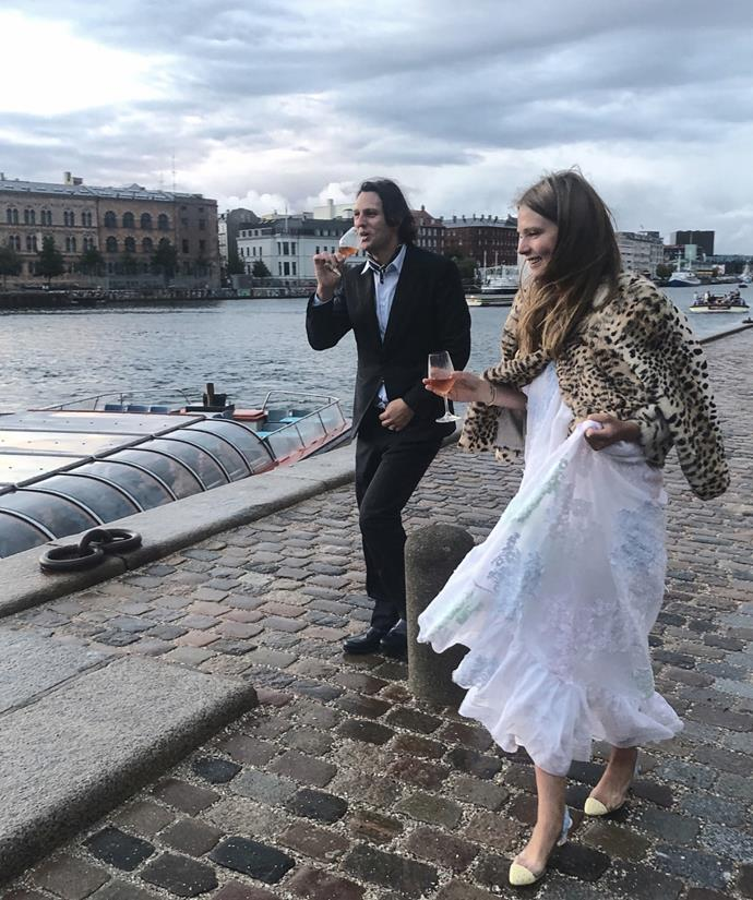 """**Caroline Brasch Nielsen in Cecilie Bahnsen (2018)** <br><br> Danish model and It-girl [Caroline Brasch Nielsen](https://www.elle.com.au/wedding/caroline-brasch-nielsen-wedding-18252